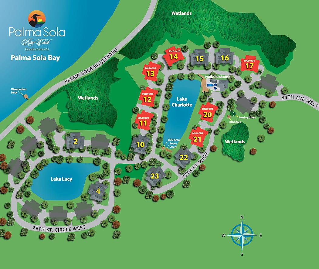Bradenton Condo For Sale Site Plan