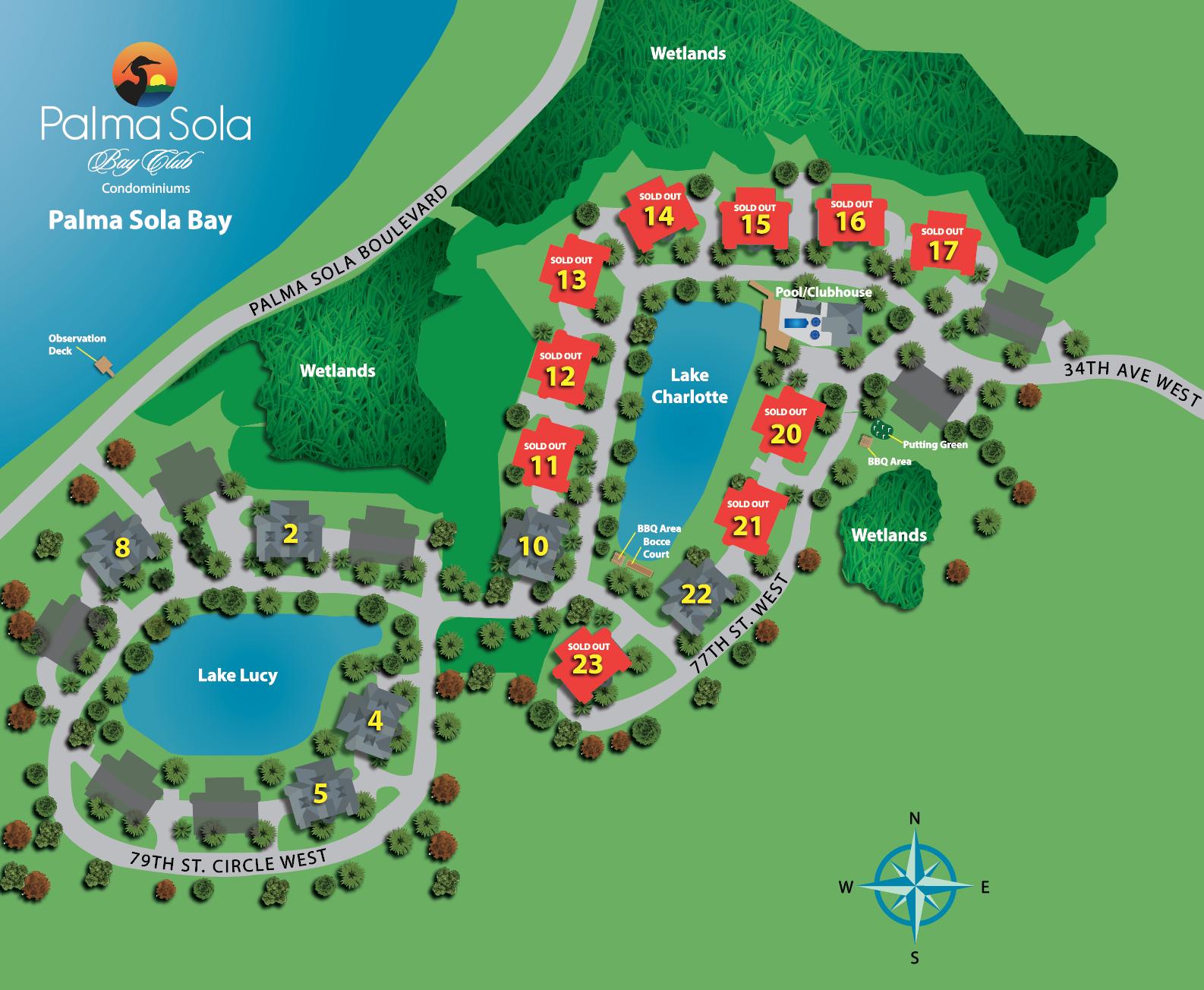 Palma Sola Bay Club Site Plan Bradenton