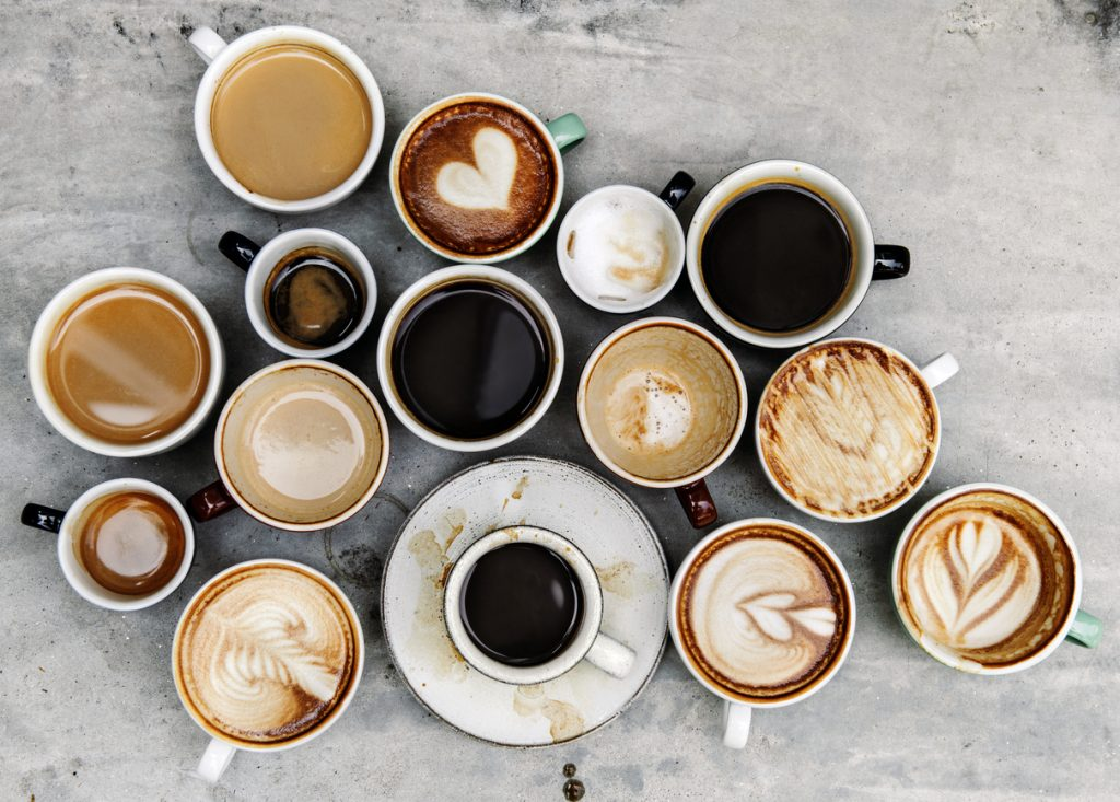 for a coffee lover - Aerial view of various coffee