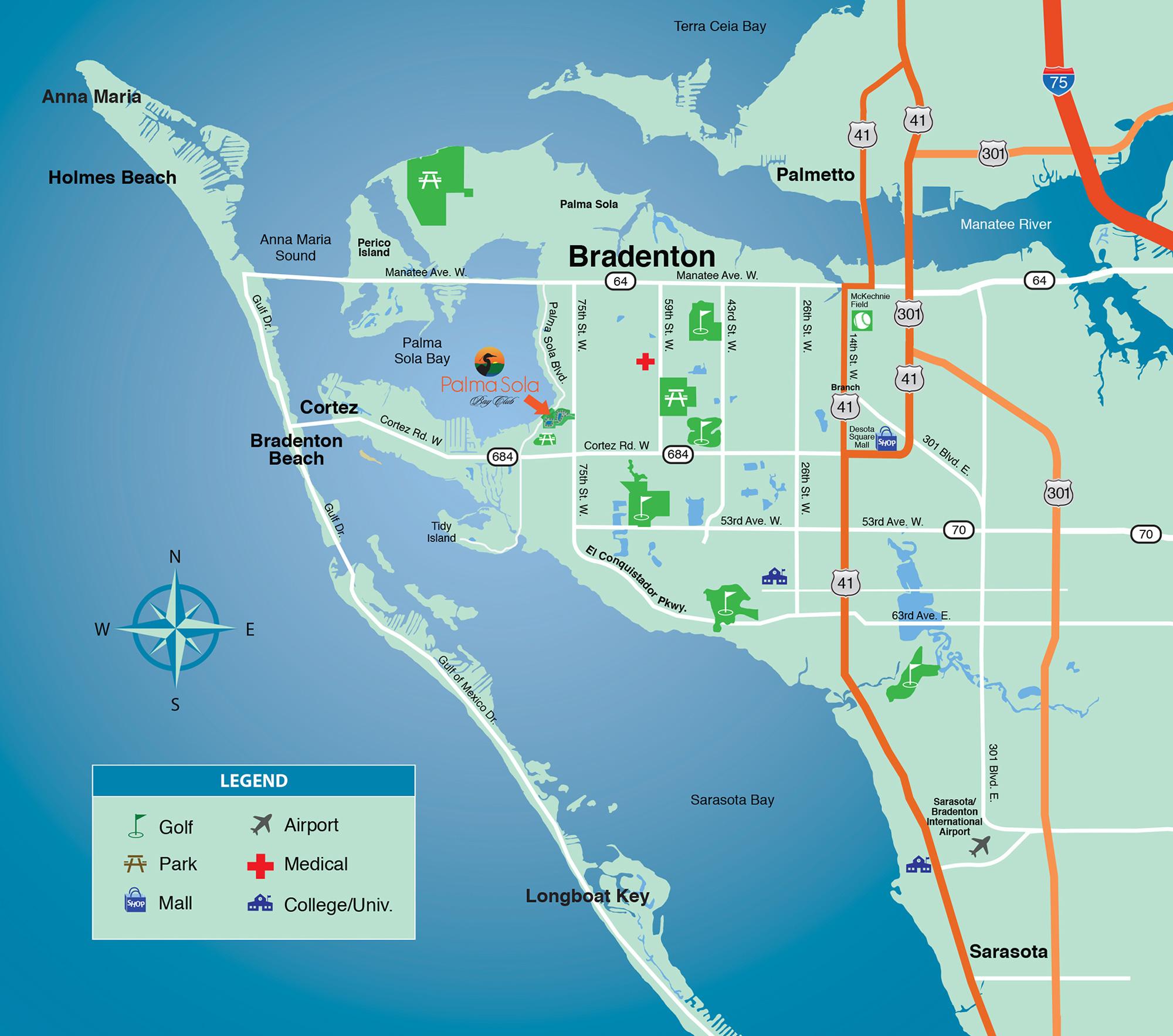 Florida Location Map.Location Bradenton Fl Map New Condominiums For Sale In