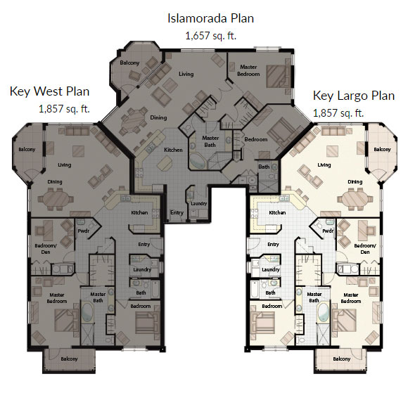 Key_Largo_Condominium_floor_plan_full_names_Palma_Sola_Bay_Club
