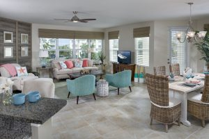 interior of palma sola bay club condos