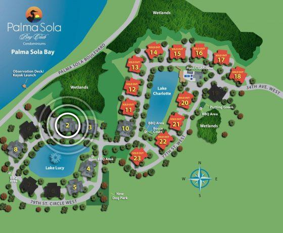 palma sola bay club site map