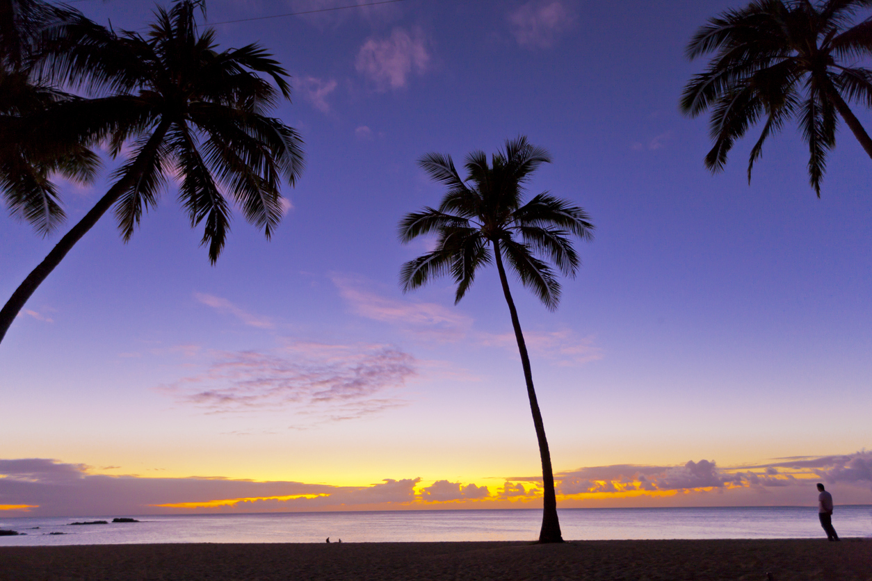 right near the beach - Photography of a beautiful and calm sunset on a tropical beach. Outdoors photography.