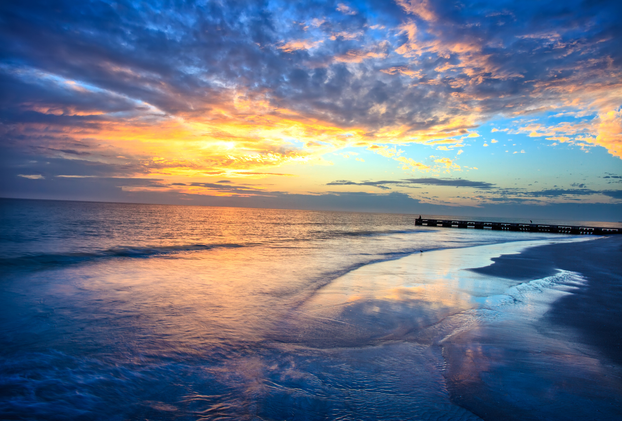 Another beautiful sunset from the west coast of Florida. Longboat Key offers a nightly visual treat of a beautiful sunset. Representing best place to retire in Florida